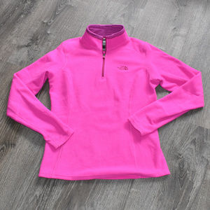 North Face Pink Pullover 1/4 Zip Fleece